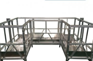 visoka trdnost podložena delovna ploščad z u trakom