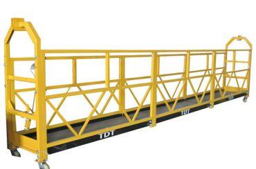 Jeklo vroče galvanizirana aluminijasta aluminijasta vrv viseča platforma 1.5KW 380V 50HZ