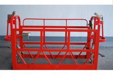 800kg pobarvane / aluminijasti viseči platformi za dostop moč motorja 1.8kw platforma oder