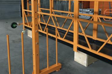 enosmerna vzmetena žična vrvna platforma 800 kg 1,8 kw, hitrost dvigovanja 8 -10 m / min